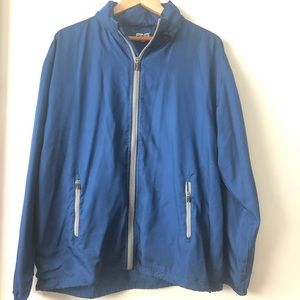 Ping windbreaker blue with hoodie size L blue